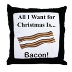 Christmas Bacon Throw Pillow