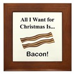 Christmas Bacon Framed Tile