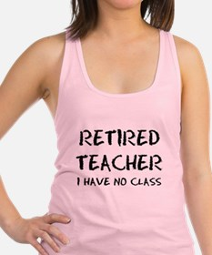 Former Retired Teacher Racerback Tank Top