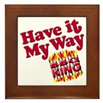 Have it Your Way BBQ King Wood & Ceramic Hot Pad