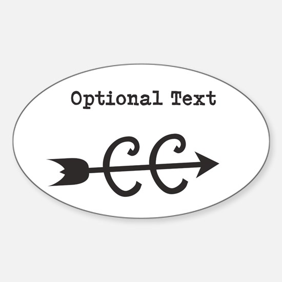 Cross Country Optional Text Sticker (Oval)