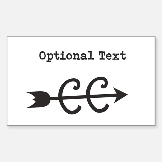 Cross Country Optional Text Sticker (Rectangle)
