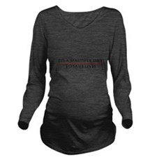 Cute Save lives Long Sleeve Maternity T-Shirt