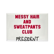 Messy Hair Sweatpants Club Rectangle Magnet
