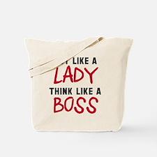 Act like lady think boss Tote Bag