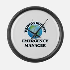 World's Hottest Emergency Manager Large Wall Clock