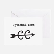 Customize Text Cross Country Greeting Card