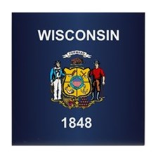 Wisconsin (v15b) Tile Coaster