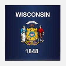 Wisconsin (v15b) Tile Coaster