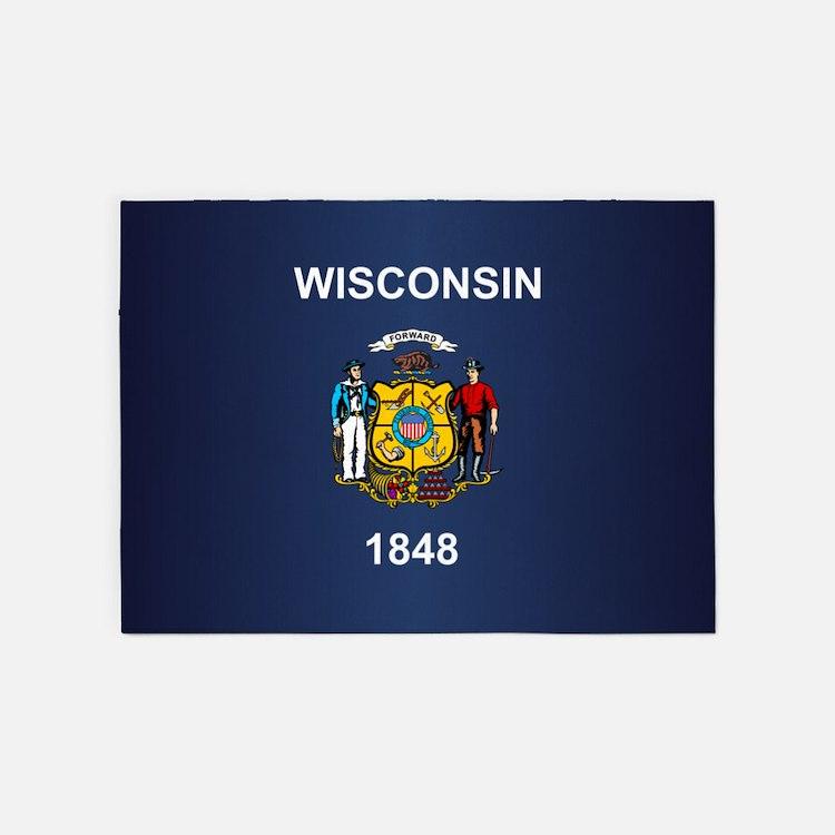 Wisconsin (v15b) 5'x7'Area Rug
