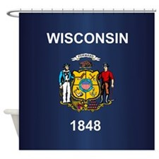 Wisconsin (v15b) Shower Curtain