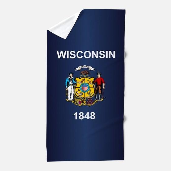 Wisconsin (v15b) Beach Towel