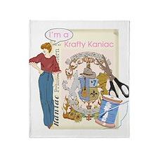 Krafty Kaniac Throw Blanket