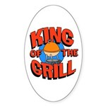 King of the Grill<br> Oval Sticker