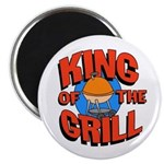 King of the Grill<br> Magnet