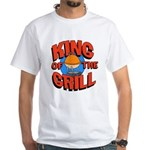 King of the Grill<br> White T-Shirt