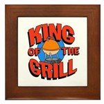 King of the Grill<br>Wood & Ceramic Hot Pad