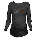 Christmas Chocolate Long Sleeve Maternity T-Shirt