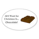 Christmas Chocolate Sticker (Oval 50 pk)