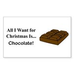 Christmas Chocolate Sticker (Rectangle 10 pk)