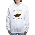 Christmas Chocolate Women's Hooded Sweatshirt
