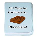 Christmas Chocolate baby blanket