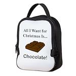 Christmas Chocolate Neoprene Lunch Bag