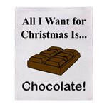 Christmas Chocolate Throw Blanket