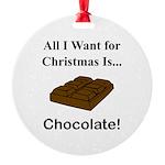 Christmas Chocolate Round Ornament