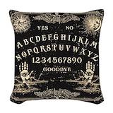 Spooky halloween Woven Pillows