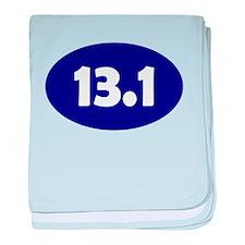Blue 13.1 Oval baby blanket