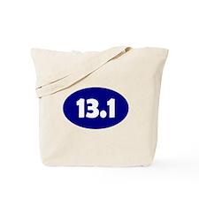 Blue 13.1 Oval Tote Bag