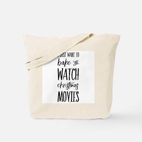 Bake and Watch Christmas Movies Tote Bag