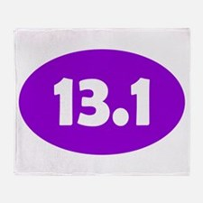 Purple 13.1 Oval Throw Blanket
