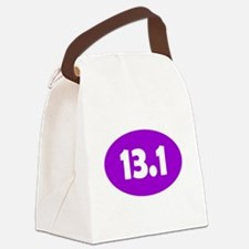 Purple 13.1 Oval Canvas Lunch Bag