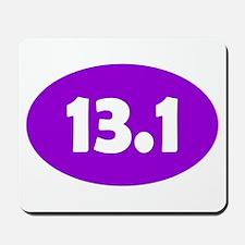 Purple 13.1 Oval Mousepad