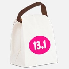 Pink 13.1 Oval Canvas Lunch Bag