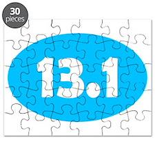 Sky Blue 13.1 Oval Puzzle