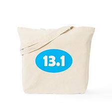 Sky Blue 13.1 Oval Tote Bag