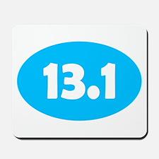 Sky Blue 13.1 Oval Mousepad