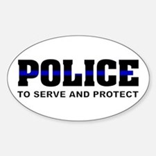 Thin Blue Line Oval Decal