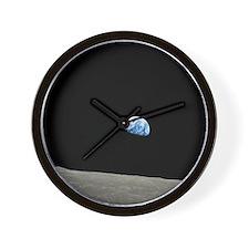 Apollo 8 1968 Earth From Moon Wall Clock