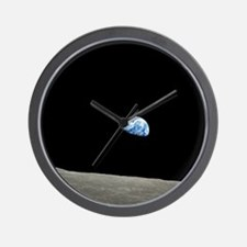 Apollo 8 1968 Earth From Moon Wall Clock