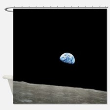Apollo 8 1968 Earth From Moon Shower Curtain