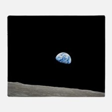 Apollo 8 1968 Earth From Moon Throw Blanket