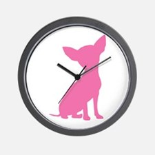 Pink Chihuahua - Wall Clock