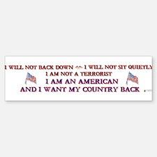 Not A Terrorist Bumper Bumper Bumper Sticker