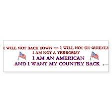 Not A Terrorist Bumper Car Sticker