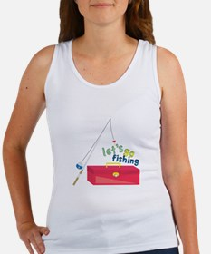 Lets Go Fishing Tank Top