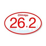 26.2 bumper Oval Car Magnets